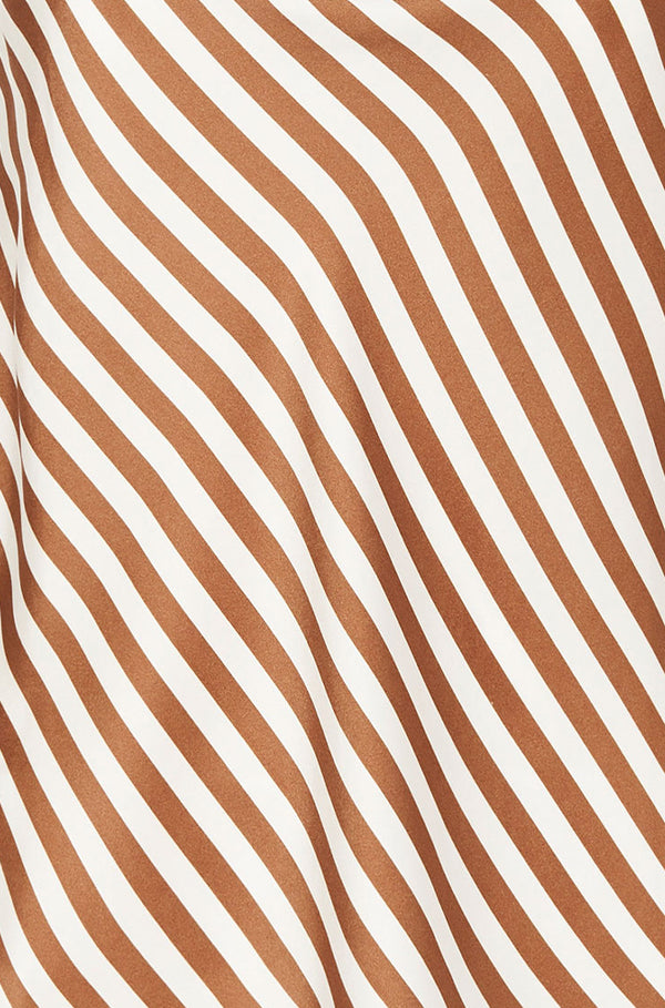 STRAIGHT NECK CAMI TOFFEE STRIPE