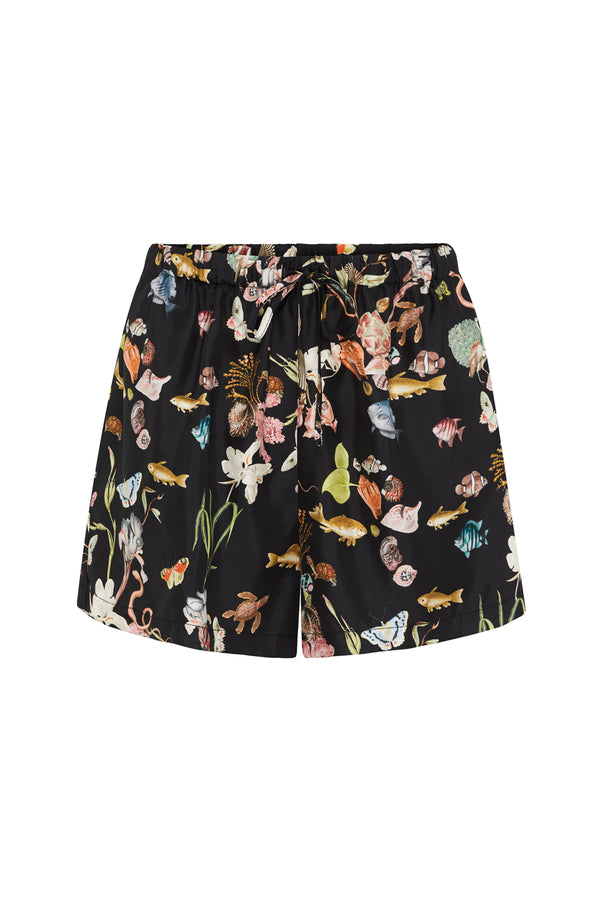 SILK GATHERED SHORTS ANAMALIA