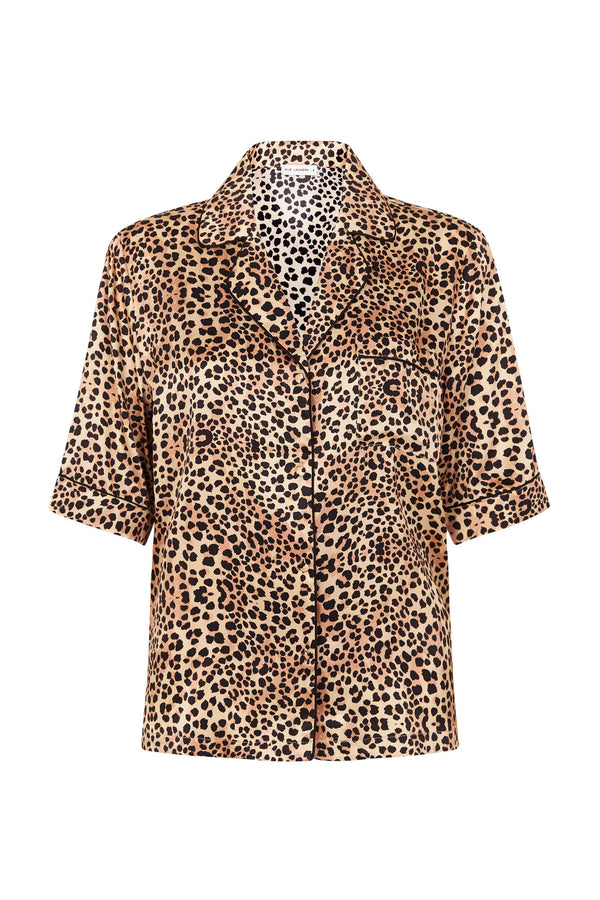 PIPED SHIRT LEOPARD