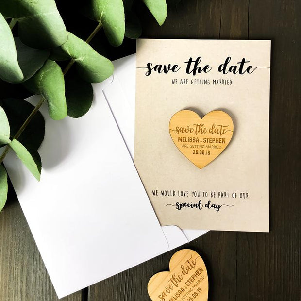 SAMPLE - Save the Date Magnet with Kraft card