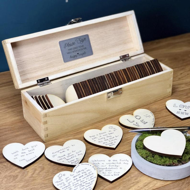Box of Hearts Personalised Wedding Guestbook Alternative