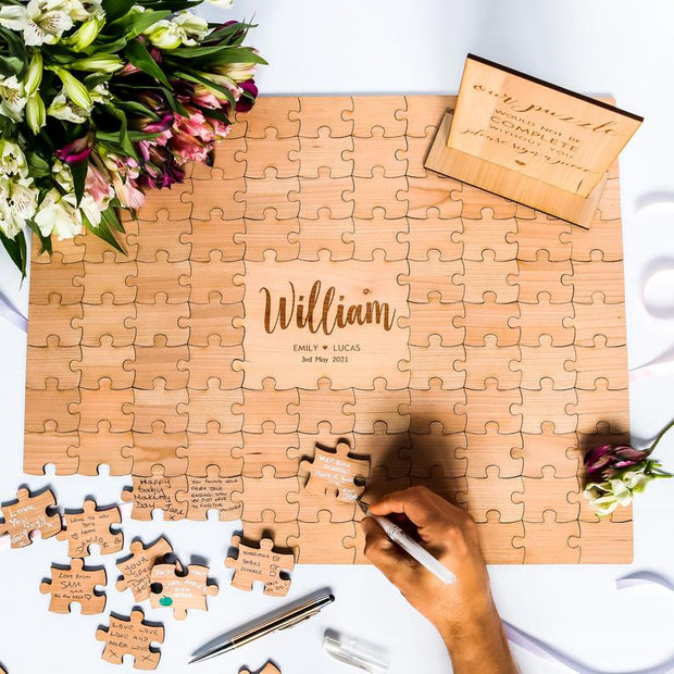 Customised Wedding Guestbook Jigsaw