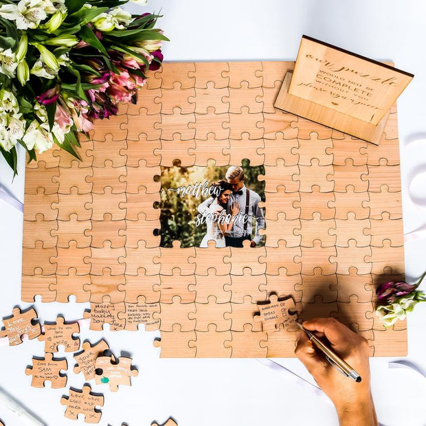 Photo Wedding Guestbook Jigsaw Alternative