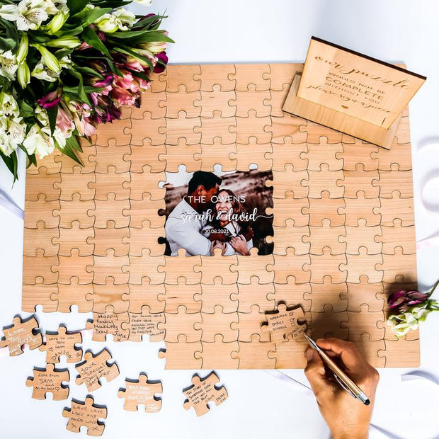 Photo Wedding Guestbook Puzzle