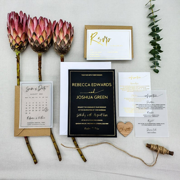 Clear Vellum Wedding Information Cards
