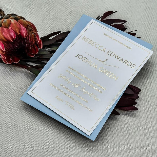 Modern White Wedding Invites Suite