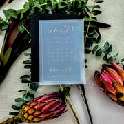 Personalised Vellum Translucent Save the Date Cards