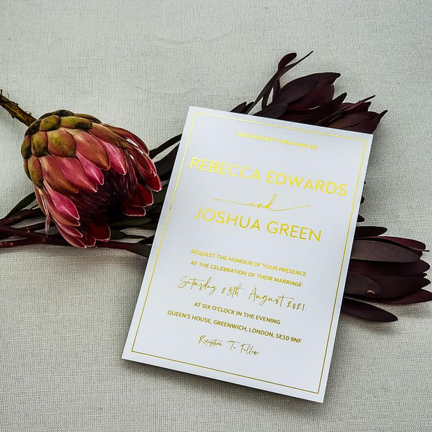 Foil Wedding Invitations Cards