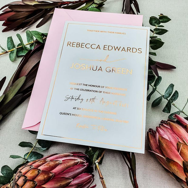 Simple Modern Personalised Wedding Invites