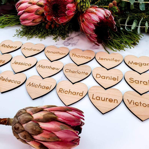 Personalised Wooden Wedding Name Places Elegant