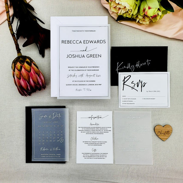 Luxury Vellum Wedding Invitation