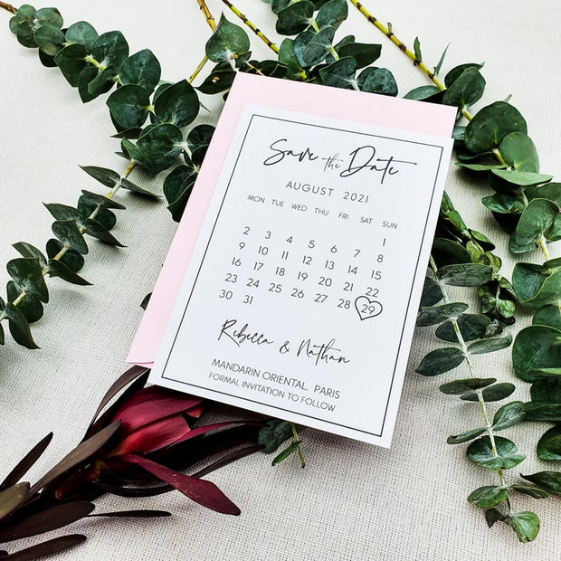 Modern Save the Date Postcards