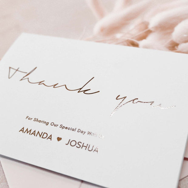 Personalised Thank You Card Multipack
