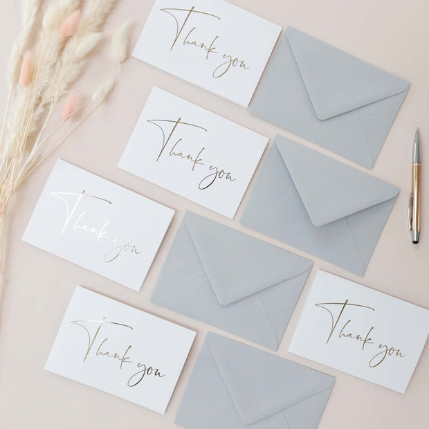 Gold Foil Wedding Thank you Cards
