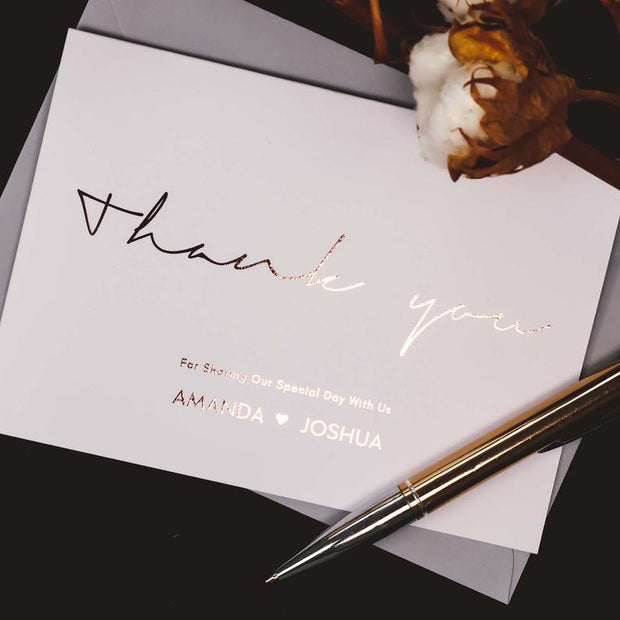 Bespoke Wedding Thank You Cards