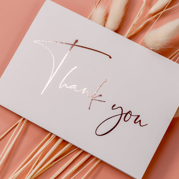 Handmade Wedding Thank you Cards