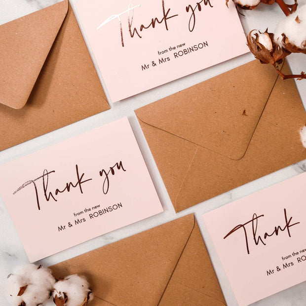 Thank You Card and Envelope Set