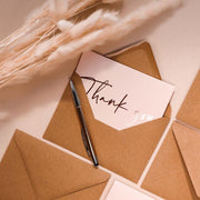 Beautiful Calligraphy Thank You Cards