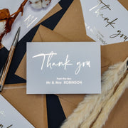 Foil Wedding Thank You Cards