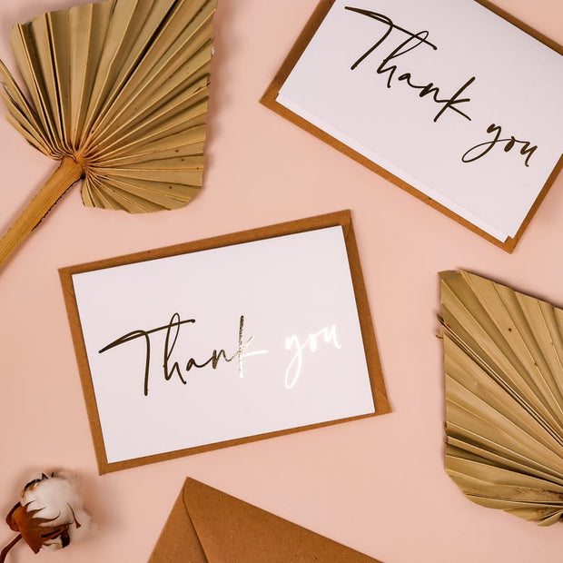 Stunning Foil Wedding Thank You Cards