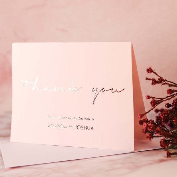 Personalised Plush Pink Thank you Cards