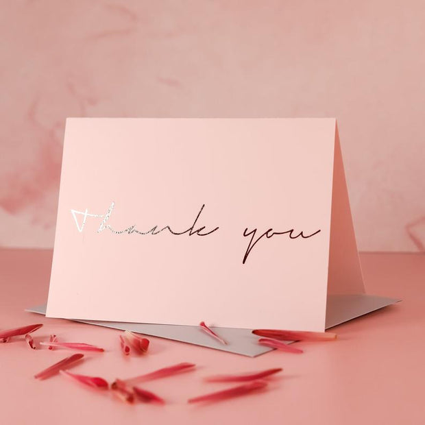 Elegant Pink Thank You Cards