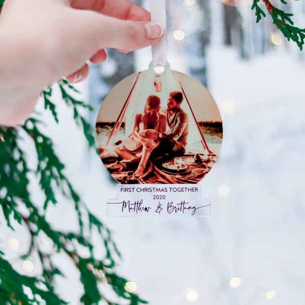 Our First 1st Christmas Couple Ornament