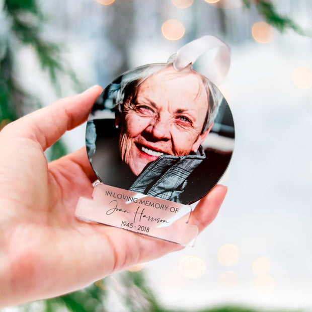Memorial Photo Gift Christmas Ornament