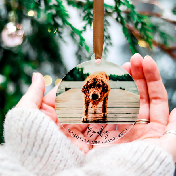 Christmas Dog Memorial Ornament Gift