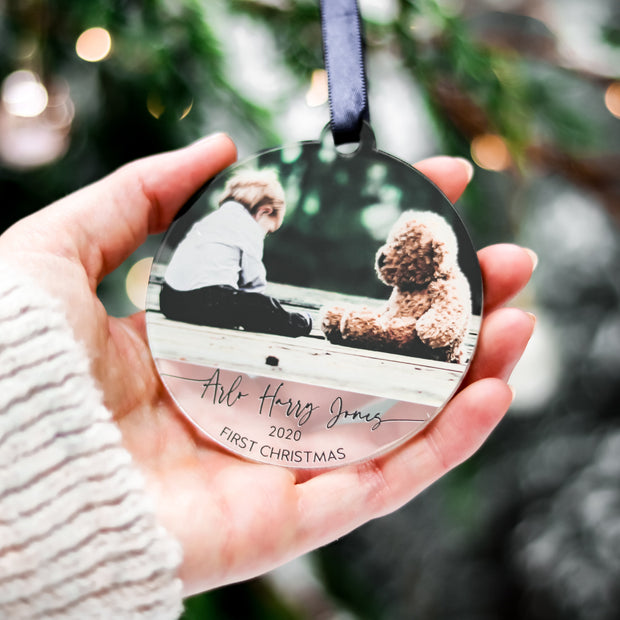 Newborn Baby Gift Xmas Photo Ornament