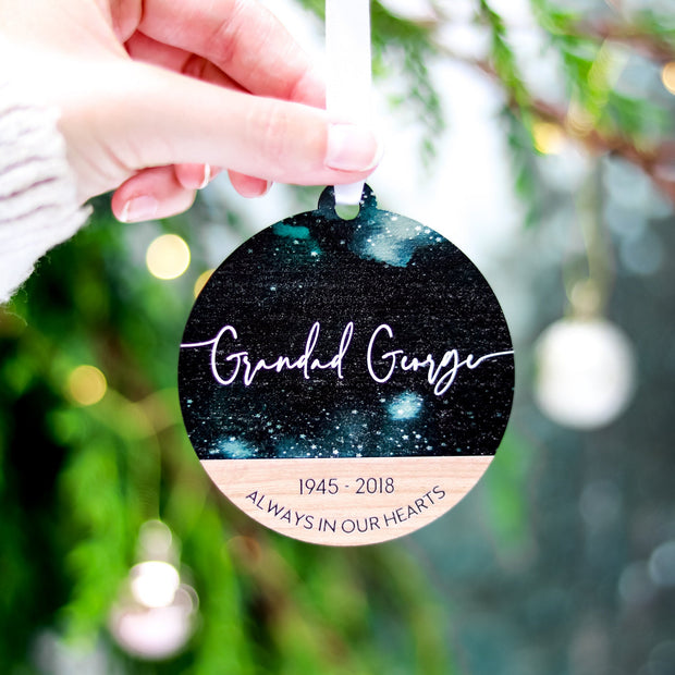 Memorial Photo Christmas Ornament