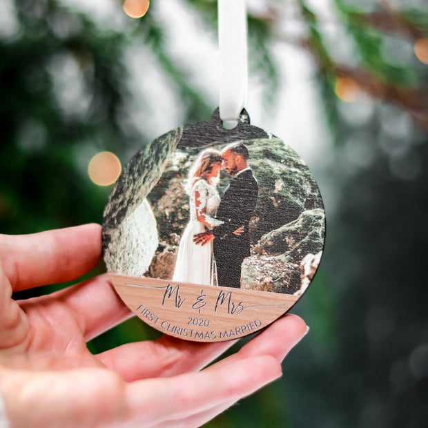Mr And Mrs Wood Photo Ornament