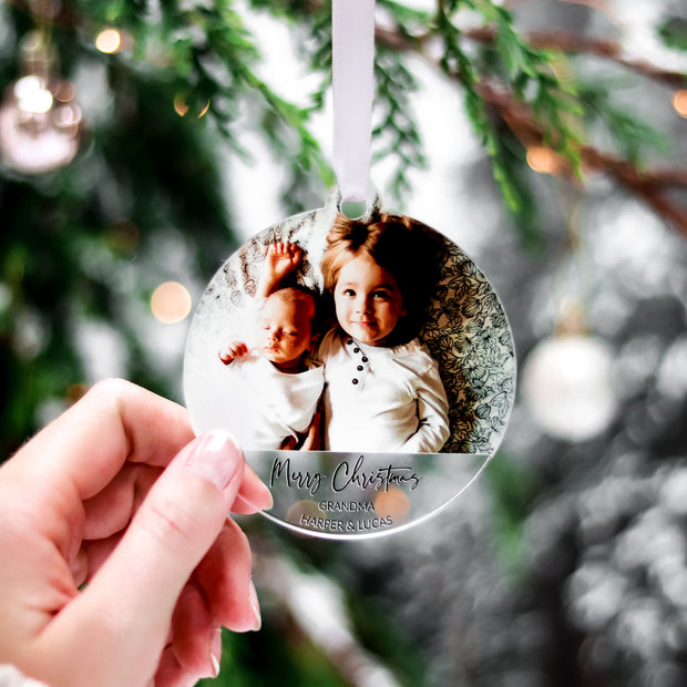 Personalised Christmas Bauble for Nanny Grandad