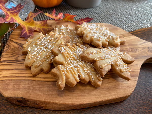 Fennel Shortbread Cookies with Sea Salt Caramel Frosting