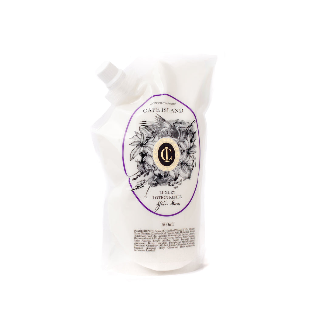 African Storm Luxury Lotion refill pouch