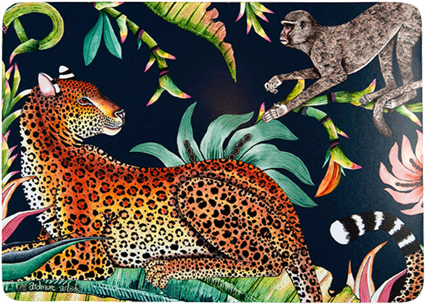 Monkey Paradise Moonlight Placemats