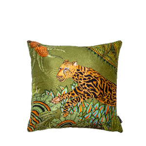 Cheetah King Forest Delta Silk 40 x 40