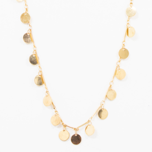 Disc chain necklace - small