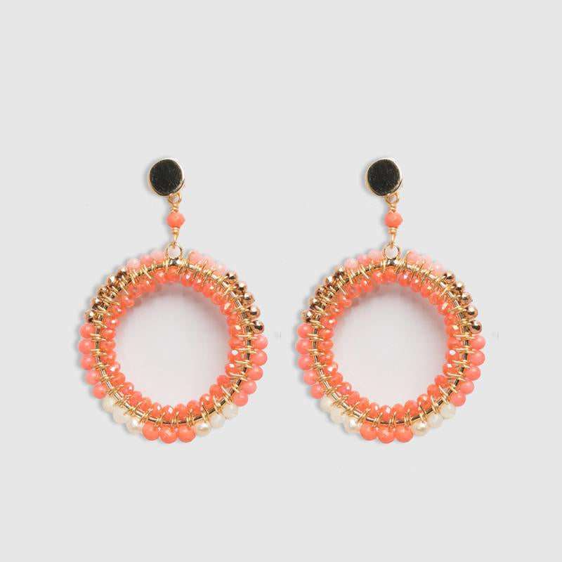 Double Wrapped Large Round in Coral