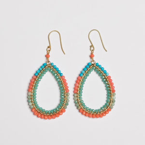 Block Double Wrapped Teardrop in Coral Variations