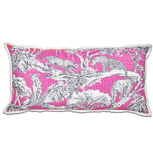 Large Cushion Cover-Pink Leopard