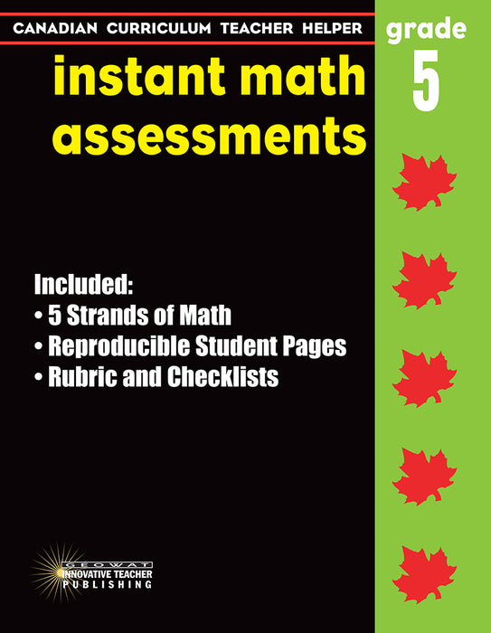 Canadian Curriculum Teacher Helper - Grade 5 - Instant Math Assessments