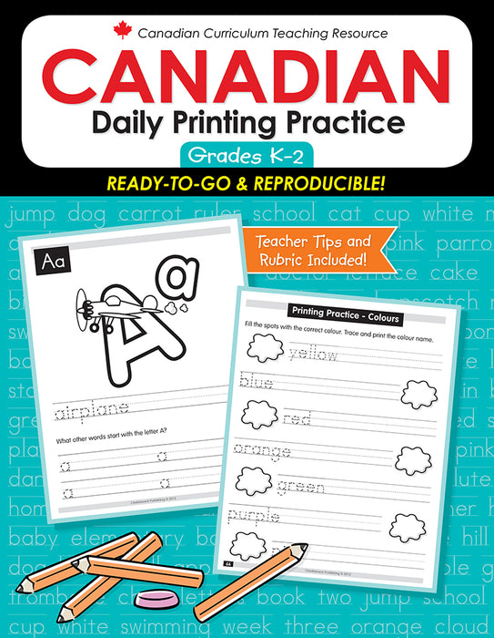 Canadian Daily Printing Practice K-2