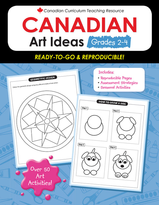Canadian Curriculum Teaching Resource - Canadian Art Ideas Grades 2-4