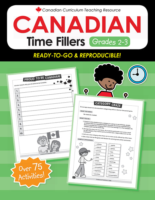 Canadian Curriculum Teaching Resource - Canadian Time Fillers Grades 2-3