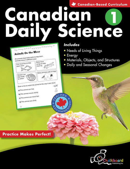 Canadian Daily Science: Grade 1