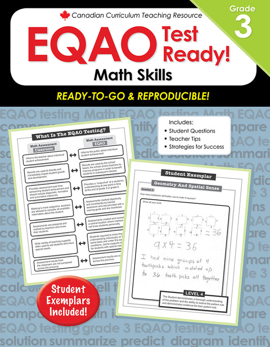 Canadian Curriculum Teaching Resource - EQAO Test Ready! - Math Skills Grade 3