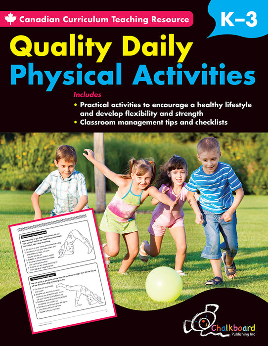 Canadian Curriculum Teaching Resource - Quality Daily Physical Activities K-3