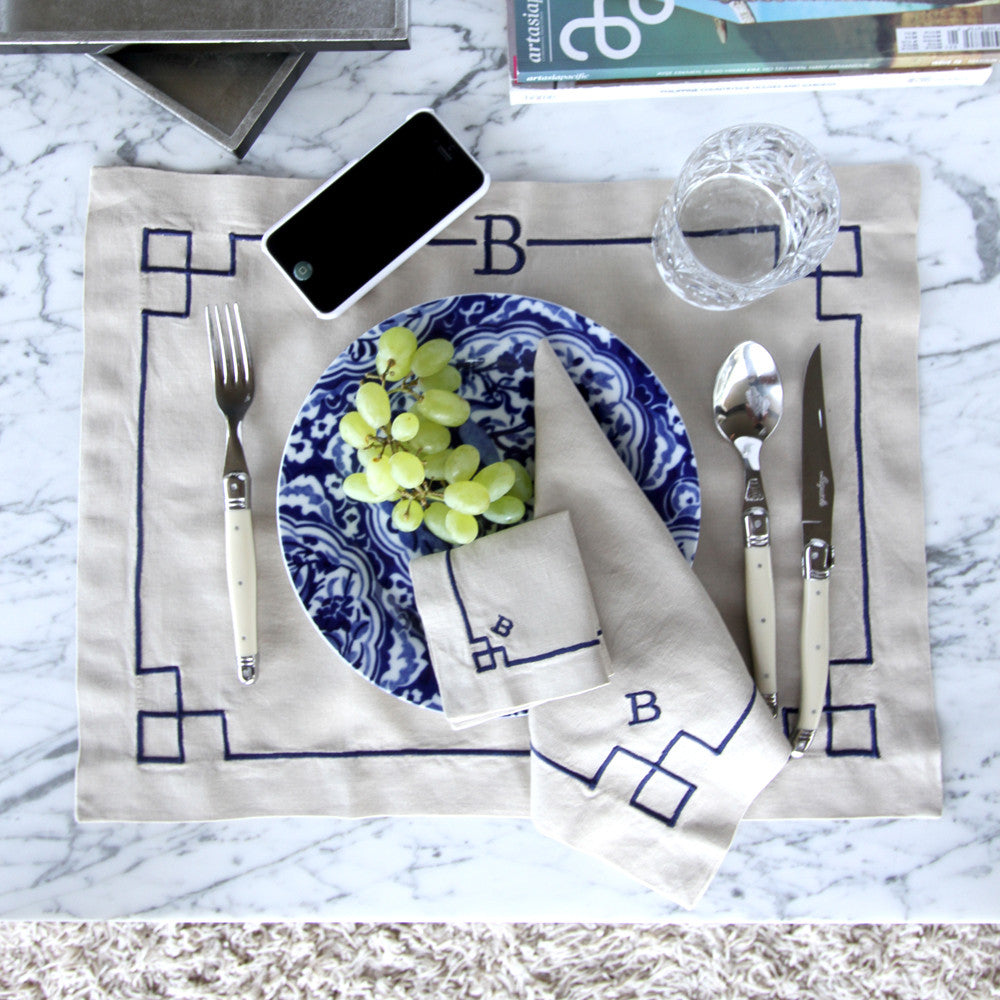 Chinoiserie Linen Placemats