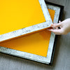 Lacquer Placemat with Eggshell Border- SOLD OUT